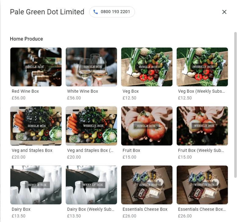 Google My Business Product Listing  | Insights | Digital Marketing | Hertfordshire