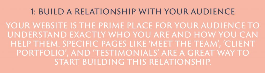 Build a relationship with your audience | Digital Marketing | Amber Mountain Marketing