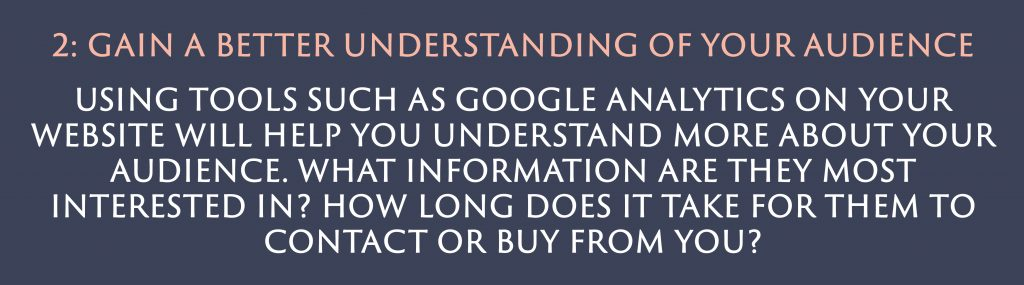 Gain a better understanding of your audience | Digital Marketing | Amber Mountain Marketing