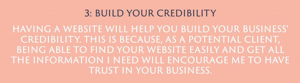 Build your credibility | Digital Marketing | Amber Mountain Marketing