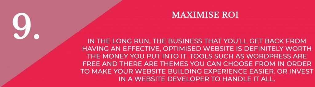 Maximise Roi   Digital Marketing   Amber Mountain Marketing